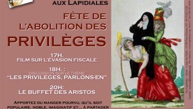 Affichette Privilèges